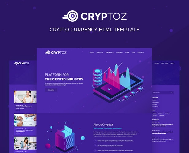 Cryptoz - Crypto Currency HTML Template