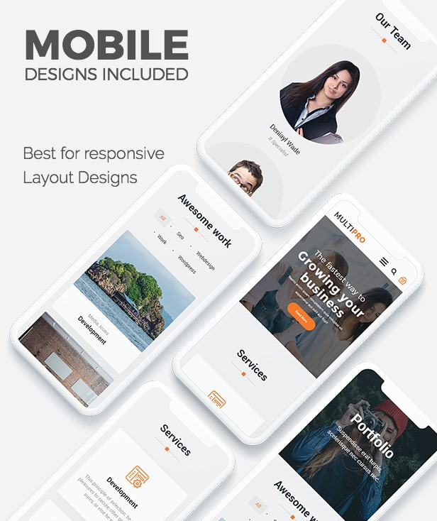 MultiPro Mobile Optimized Design