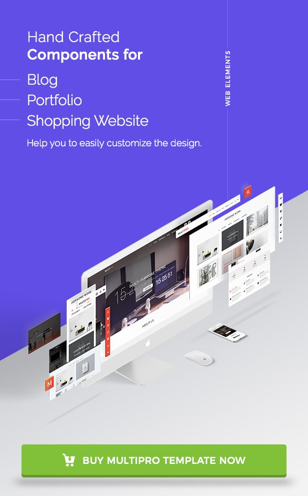 MultiPro Theme MultiPurpose Components